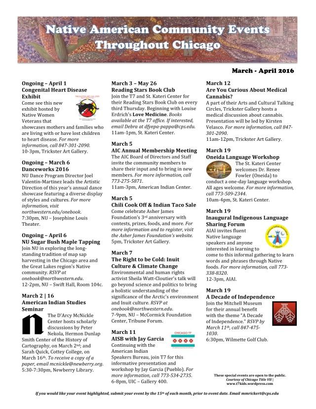 New Community Events Calendar! | CPS AIEP