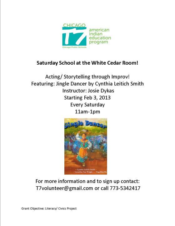 Saturday School: Improv Class!