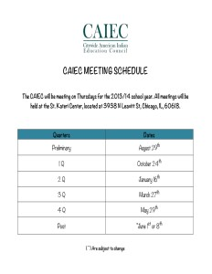 Microsoft Word - CAIEC MEETING SCHEDULE.docx