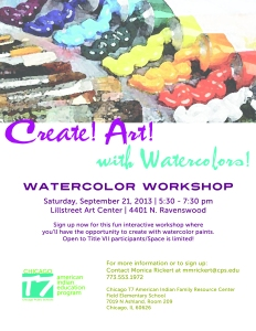 Watercolor Workshop Flyer