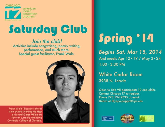 Saturday club flyer