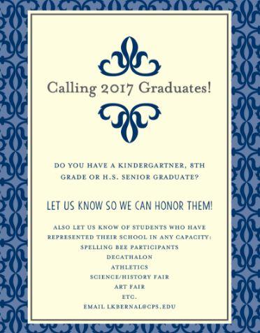 graduates call 2017