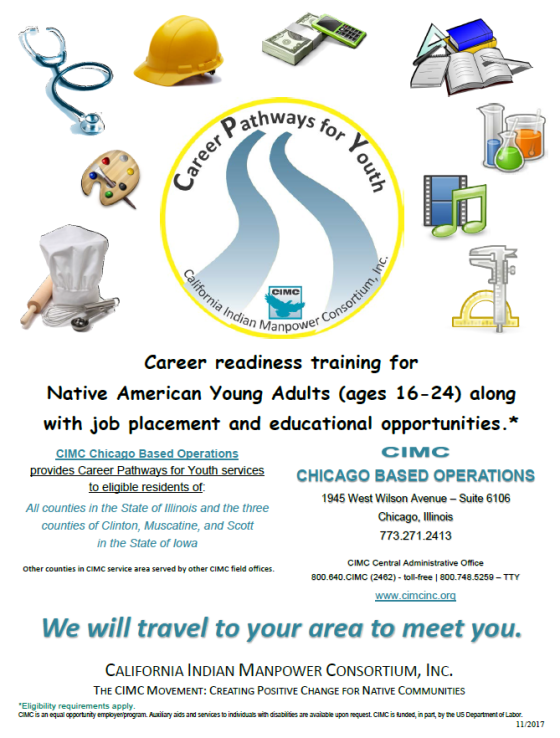 CIMC Career Pathways for Youth flyer