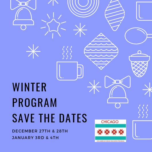 Winter programsave the dates