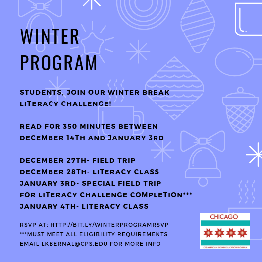 Winter program flyer